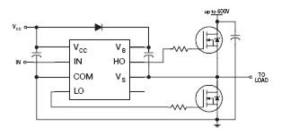 схема подключения драйвера полумост International Rectifier