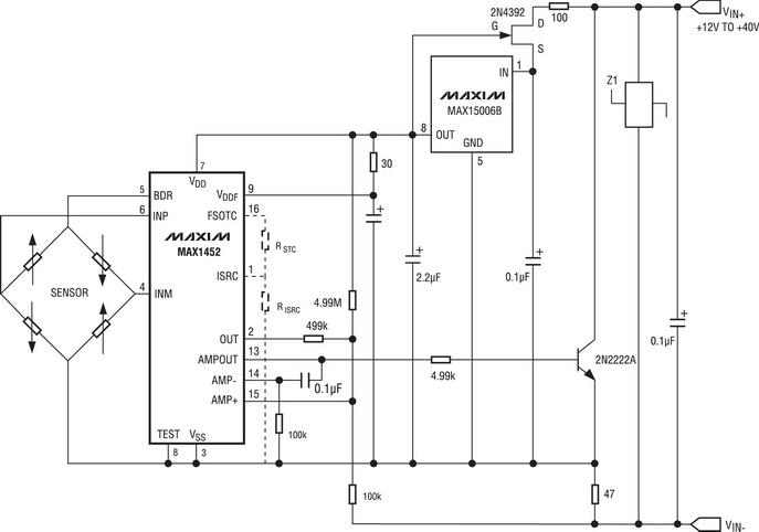 Схема включения MAX1452 в