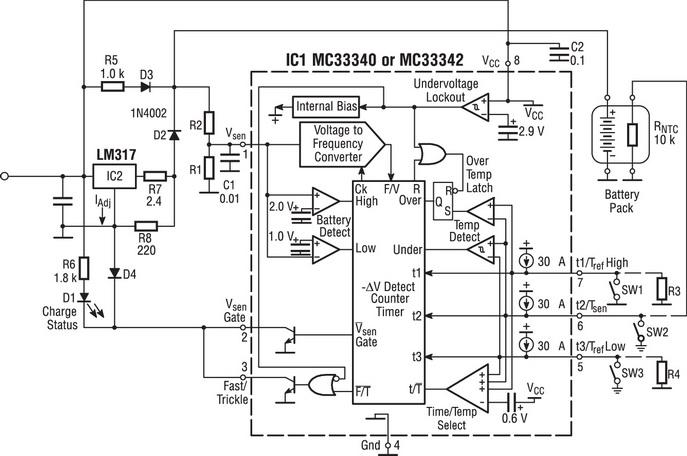 Пример такой зарядной схемы с