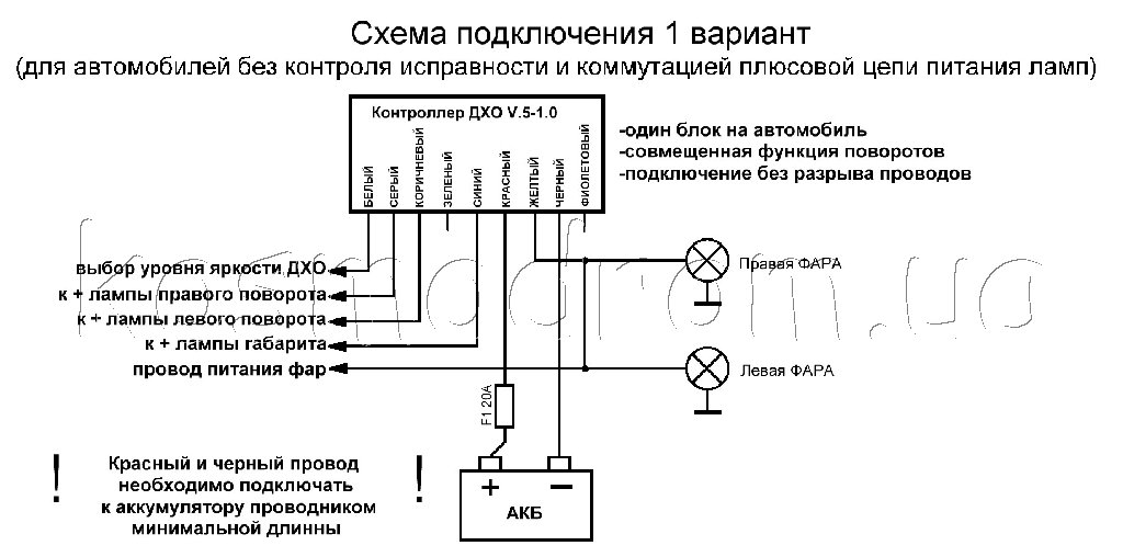 Схемы подключения: