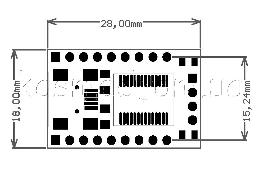 Схема модуля FT232RL_MOD