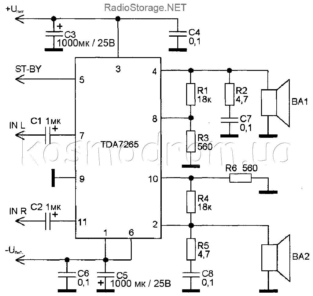 Keywords Tda7265 Amplifier Circuit Diagram And Tags Amplifiercircuit Seekiccom Wiring